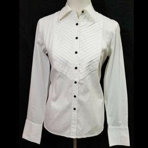Charter Club Women's White Button Shirt - Size 8